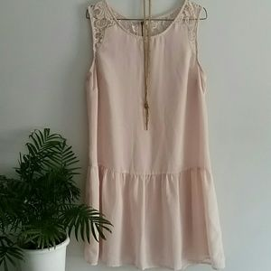 Peplum slip dress